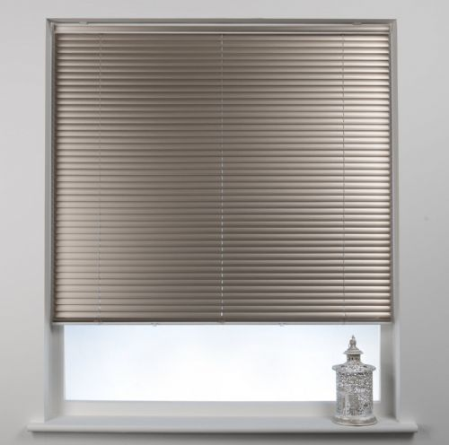 Swish Cordless 25mm Aluminium Venetian Blind - Champagne